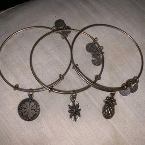 3 Alex & ani bracelets